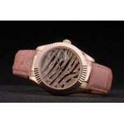Swiss Rolex Datejust Special Edition 2012 Rosa Pallido Cinturino In Pelle Outlet Toscana